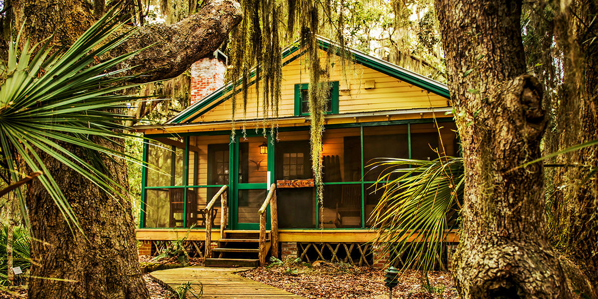 Little St. Simons Island's The Michael Cottage, built in the 1930s, tends to be a favorite pick for families staying on the island.
