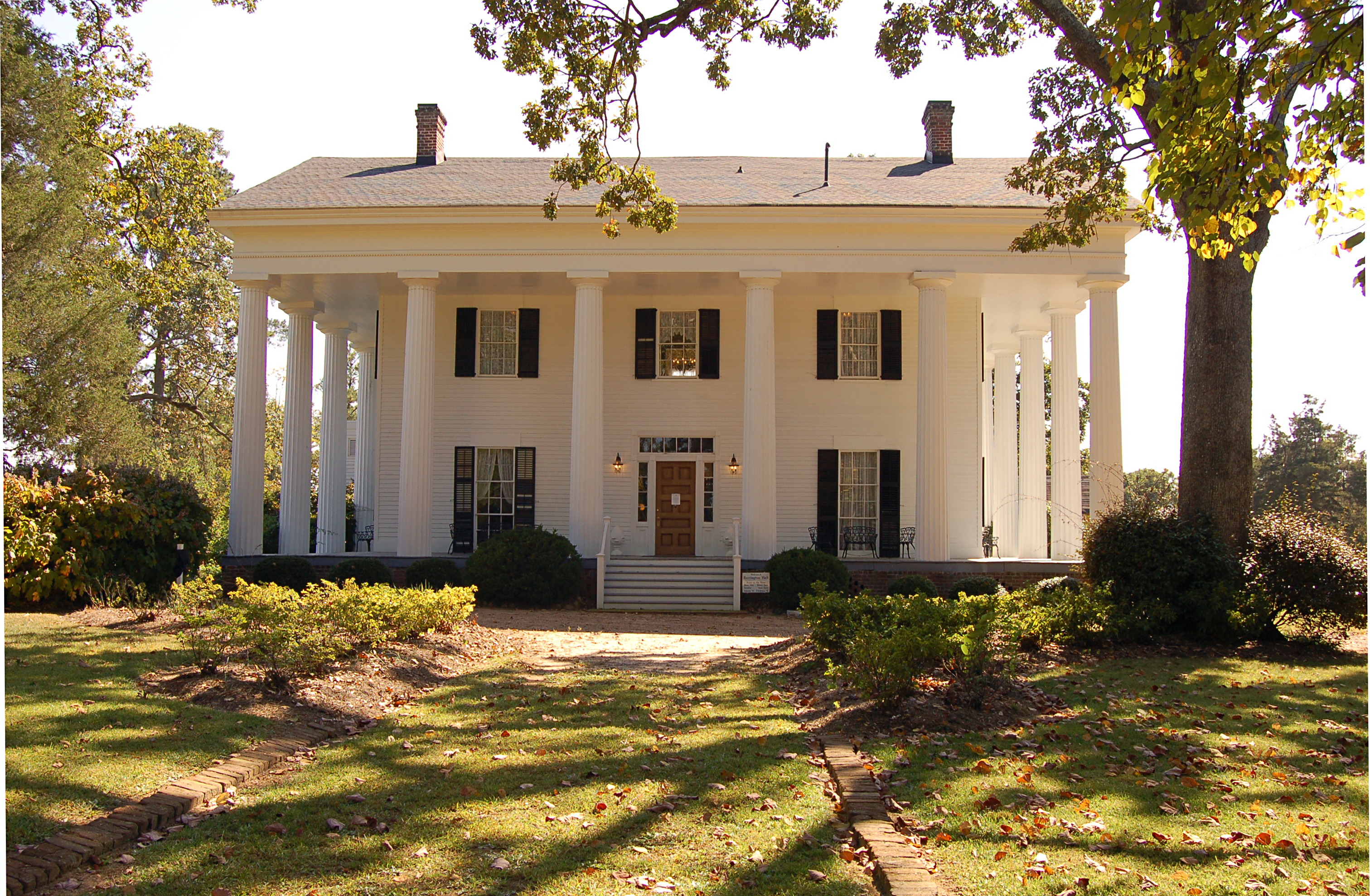 Barrington Hall was one of the first homes in Roswell and you can take take a historic home tour of it.