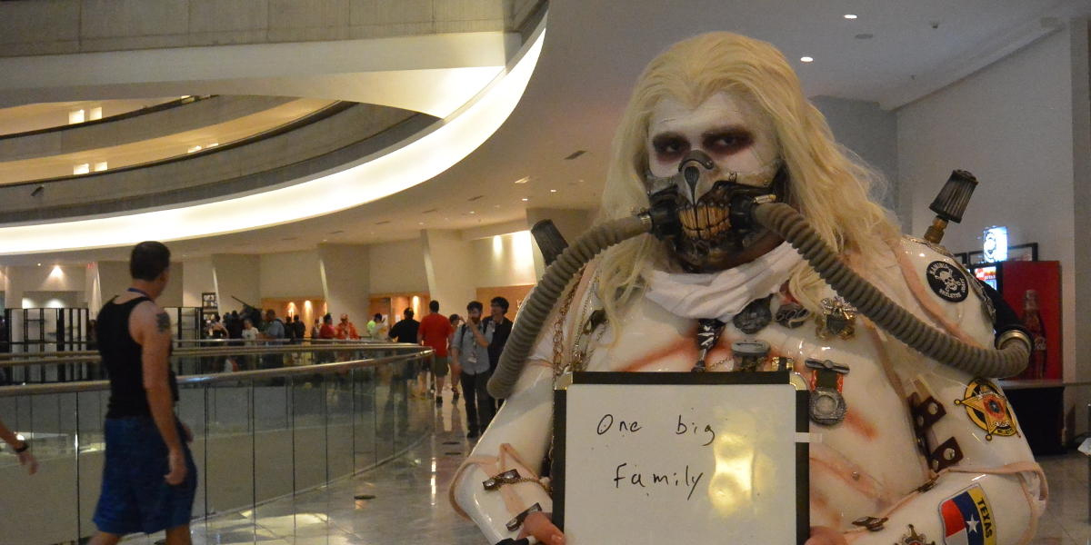 Jakey Philips attended a past Dragon Con as Immortan Joe from the film ''Mad Max: Fury Road.'' He said his favorite part of Dragon Con is its welcoming, family-like culture. Events for this year's convention kick off Aug. 31. Photo by Al Such.