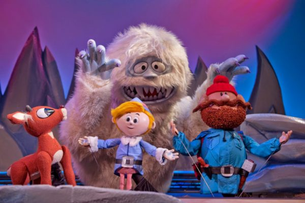 """Young kids, and kids at heart, may enjoy the live puppet version of """"Rudolph the Red-Nosed Reindeer."""" Photo courtesy of Center for Puppetry Arts."""