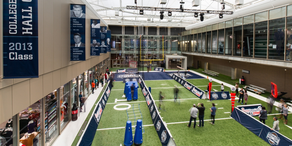 The College Football Hall of Fame is open daily.