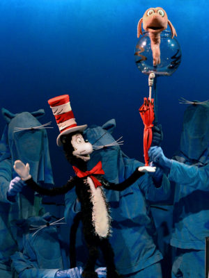 """Cat in the Hat"" performances run through May 13 at Center for Puppetry Arts."