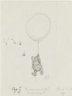 The exhibit features more than 200 works that span 90 years of Pooh history.