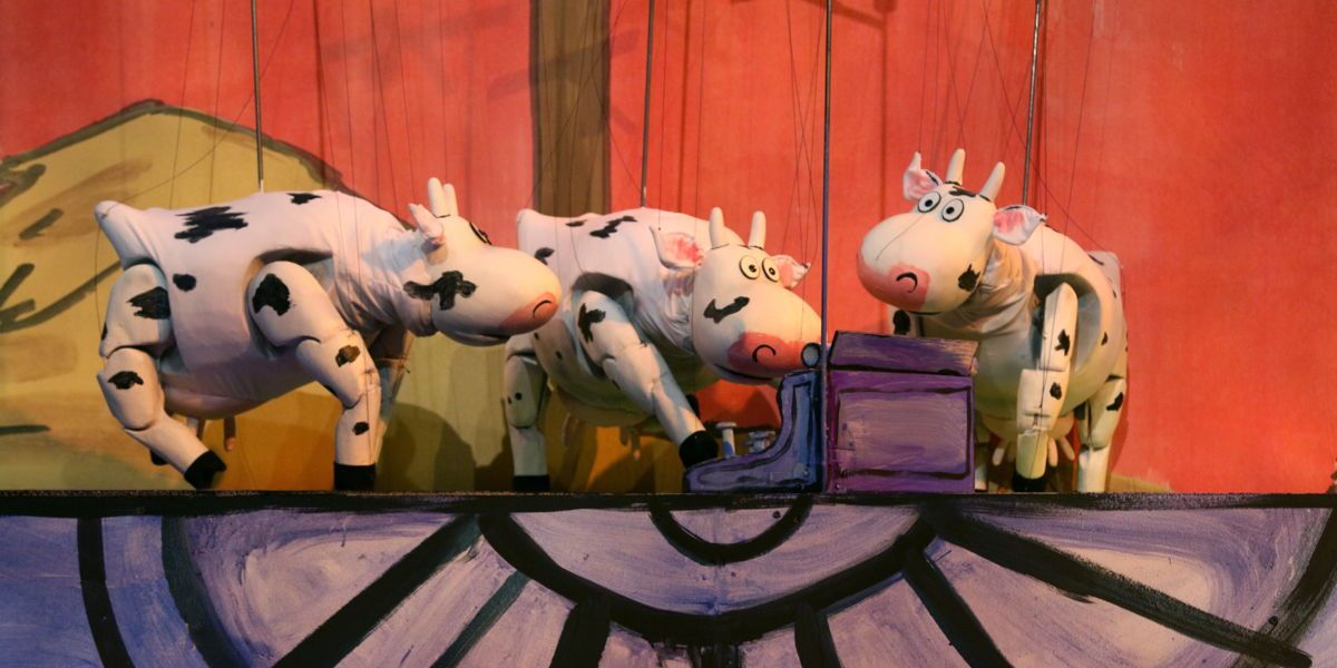 "See ""Click, Clack, Moo: Cows That Type"" at Center for Puppetry Arts."
