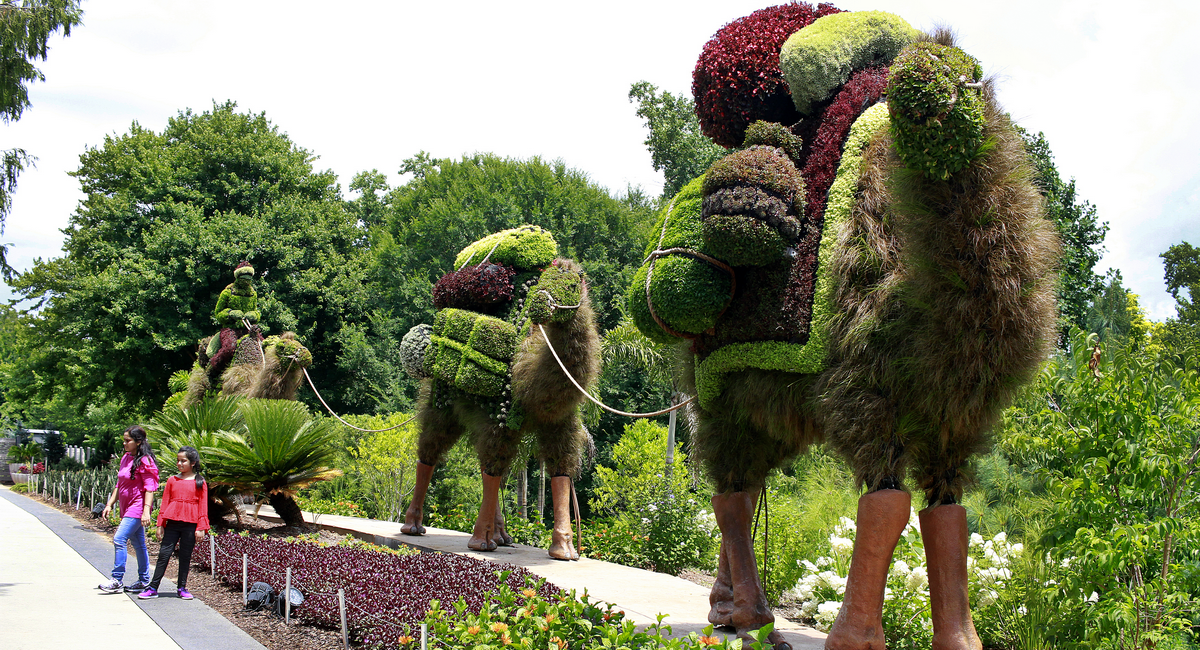 Spend a day strolling the Atlanta Botanical Garden's summer exhibit of giant, fanciful sculptures.