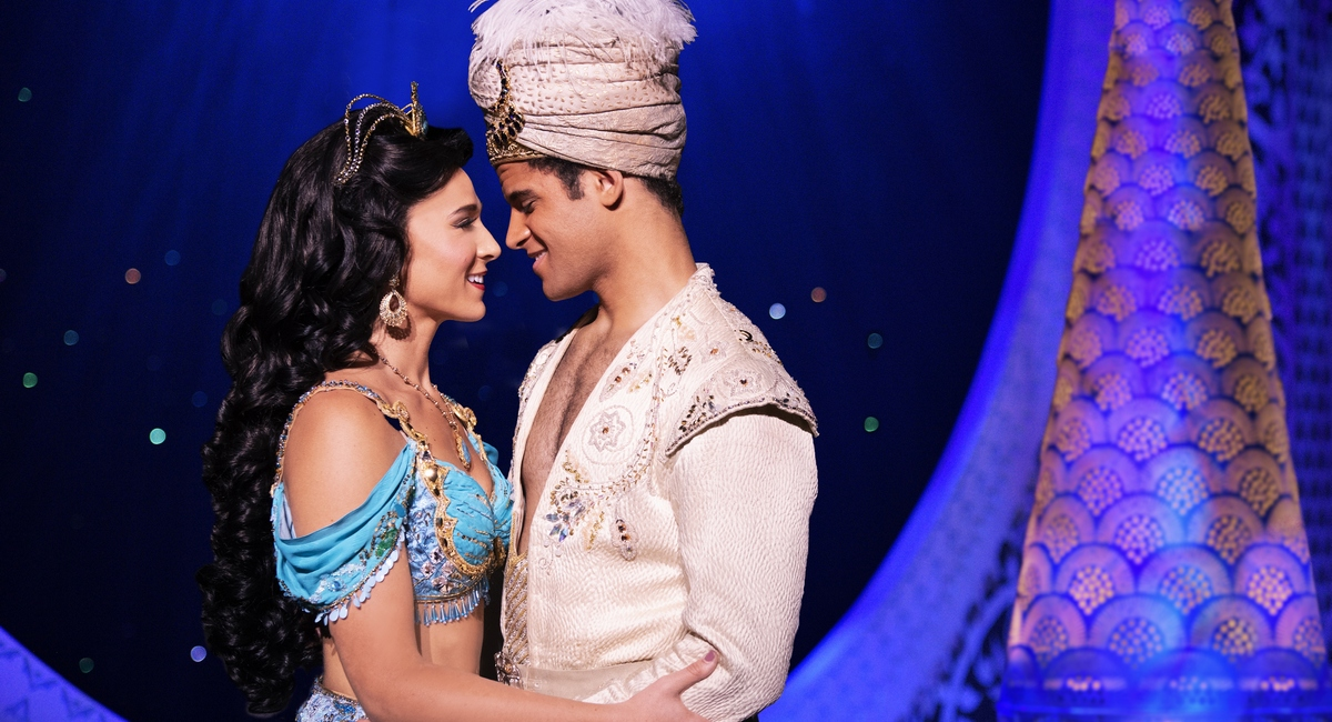 "Lissa deGuzman and Clinton Greenspan star in ""Aladdin,"" which runs at the Fox Theatre Sept. 12 through 23."