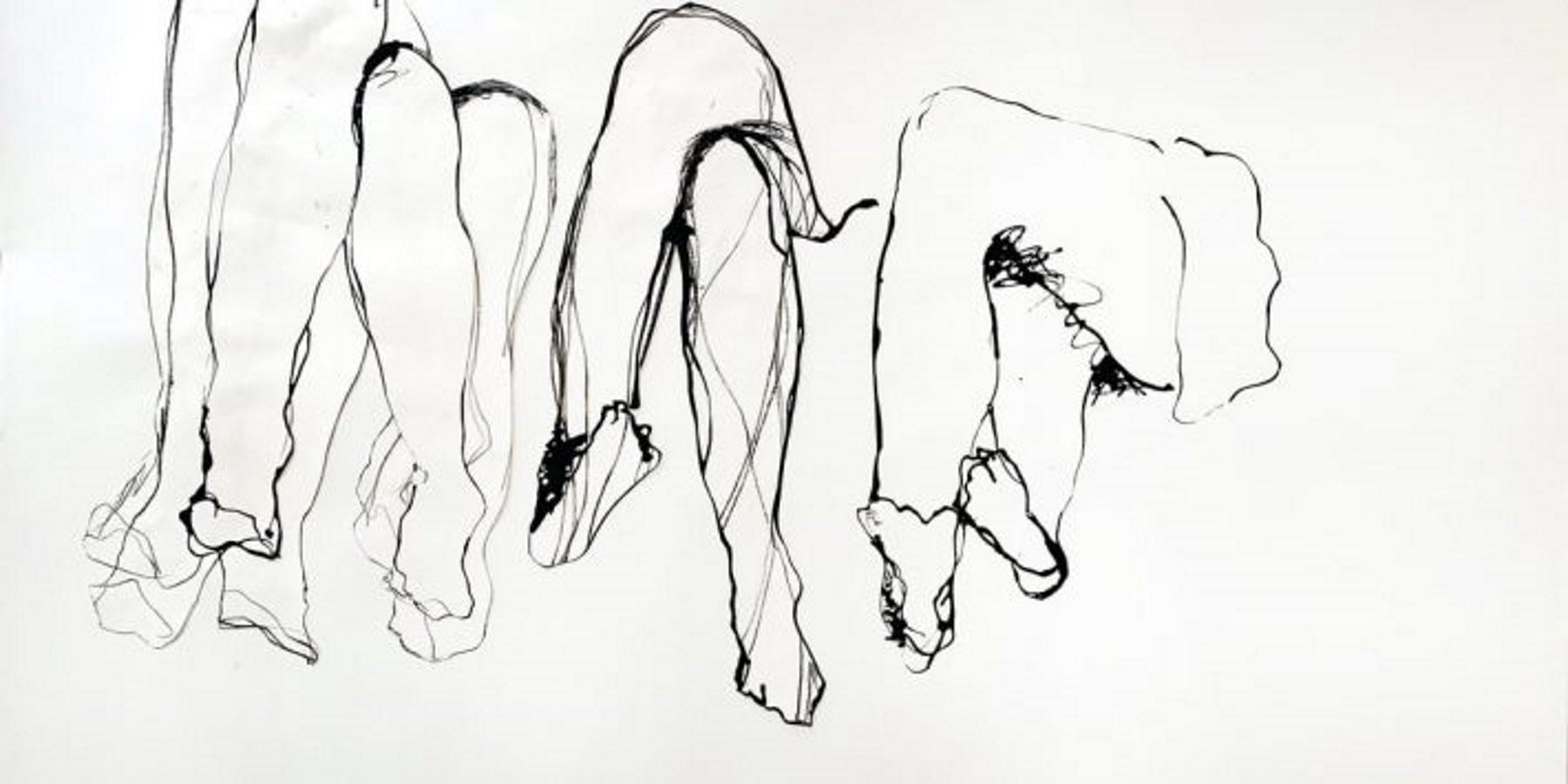 Luzene Hill drawing of crossed legs