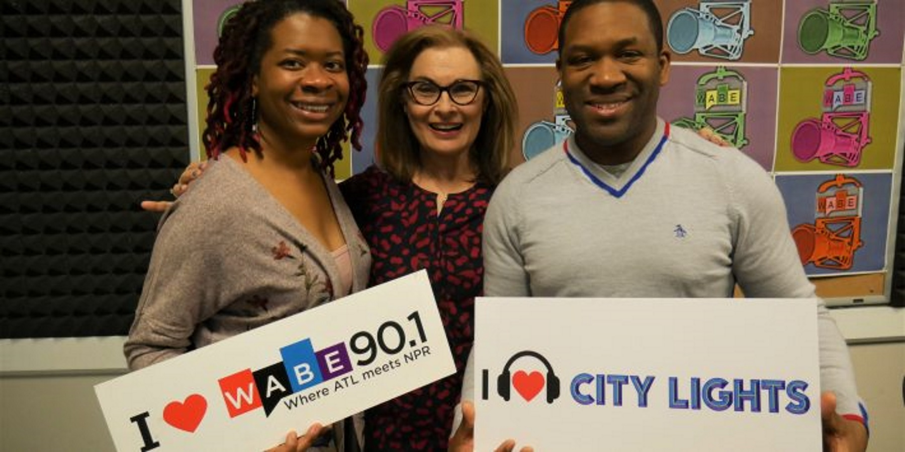 """Dantes Rameau, right, the co-founder and CEO of the Atlanta Music Project, and Aisha Moody, left, chief program officer, joined """"City Lights"""" host Lois Reitzes to talk about the program."""